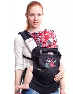 эрго-рюкзак с бабочками и цветочками