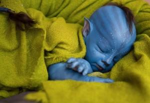 малыш аватар с синей кожей