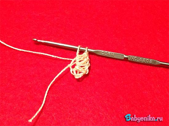 первое сердечко из цепочки для повязки