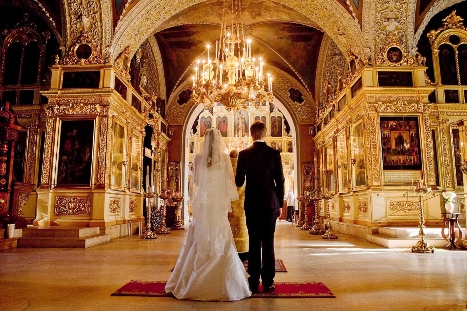 Обряд: венчание в церкви