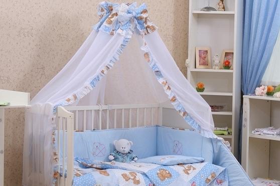 кроватка с балдахином для новорожденного ребенка
