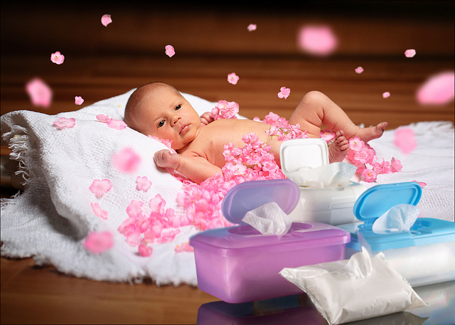 влажные салфетки для нежной кожи новорожденных