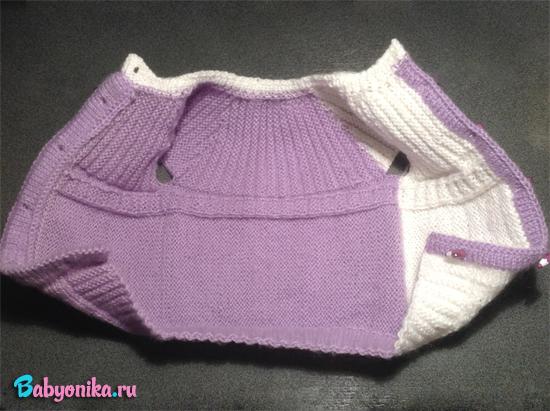 жилет спицами для новорожденного готов